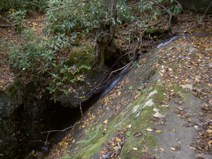 Backbone Falls from the top