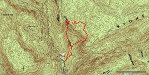 GPS track of todays (02272005) trip. Same as last time but further up on Stinking Creek