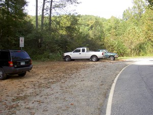 Parking is at a wide pulloff at 35.26196 -82.28504