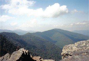 View from the top of Chimney Tops