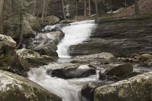 Lower falls just a short distance downstream