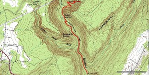 GPS track of the Laurel Falls portion of the Laurel-Snow trail