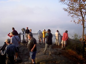 Fall Gathering '04 Day 2, Caesars Head State Park, plenty of fog from the overlook