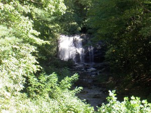 Meigs Falls viewable roadside on the Little River Road
