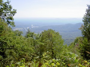 View close to the falls of Columbus and on into SC in the distance