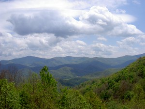 View from the overlook at the