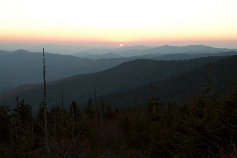 Sunset from Clingman's Dome parking
